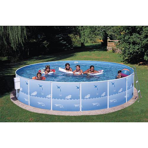 Swim N Play Fun Sun Steel Pool Package - 15 foot x 36 inch