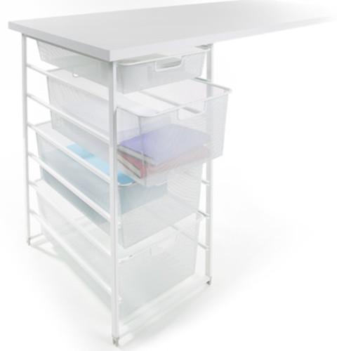 White elfa Mesh Desk Drawers