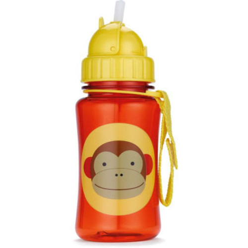 Zoo Straw Bottle - Animal: Monkey