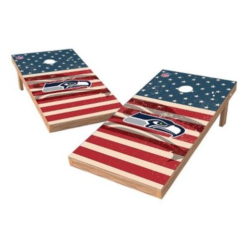 NFL Wild Sports Worn Shadow Stars and Stripes 2x4 ft. Cornhole Bean Bag Toss Set