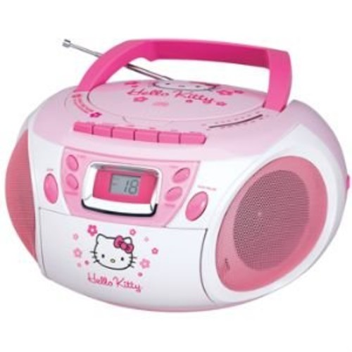 Hello Kitty Boombox/Recorder with Cassette - AM/FM Radio and CD Player