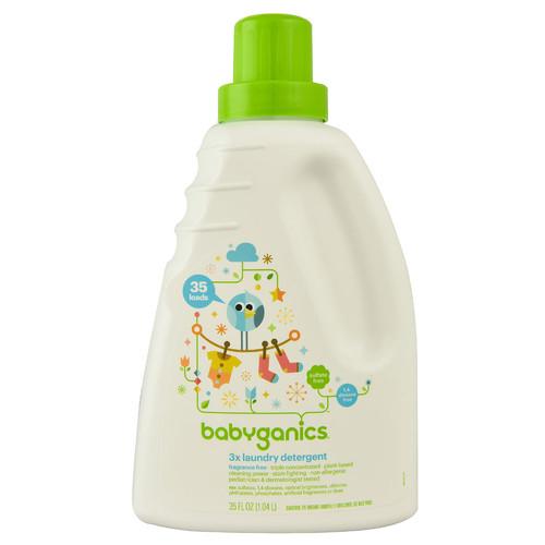 Babyganics 3X Laundry Detergent Fragrance Free 35 Loads -- 35 fl oz