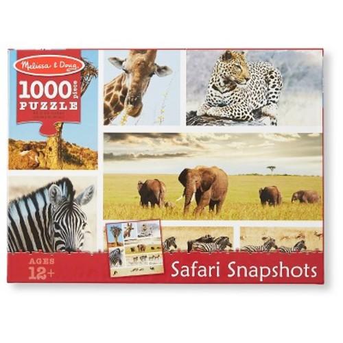 Melissa & Doug 1,000pc Safari Shapshots Jigsaw Puzzle (2 x 2 feet) 1000pc