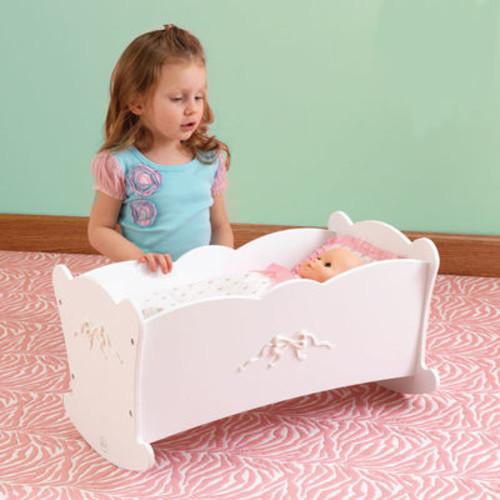KidKraft Tiffany Bow Rocking Lil Doll Cradle