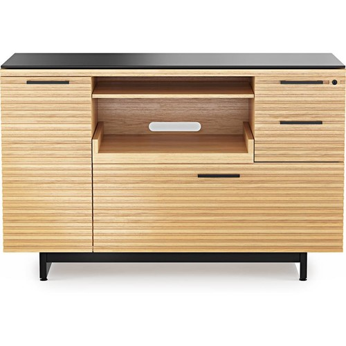 BDI Corridor 6520 (White Oak) Multifunction printer cabinet