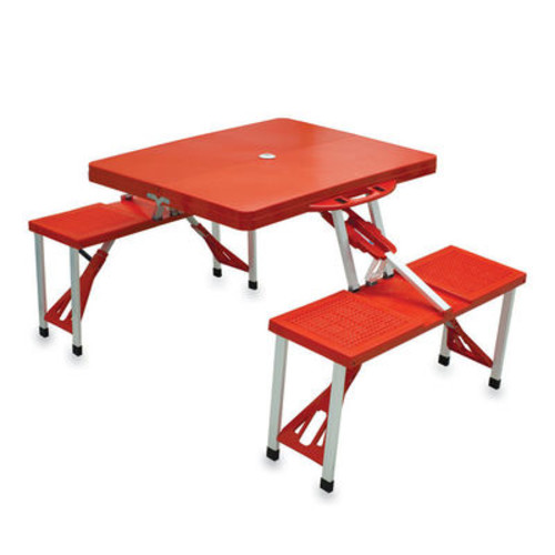 Folding Table with Seats and Carrying Case