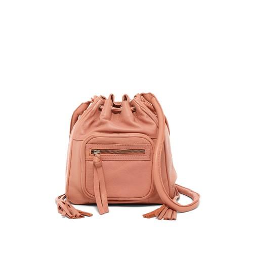 Rose Leather Bucket Bag