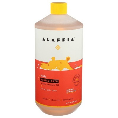 Alaffia - Everyday Coconut - Moisturizing Bubble Bath, Gentle for Babies & Up, Coconut Strawberry, 32 Ounces: Health & Personal Care [Coconut Strawberry Scent]