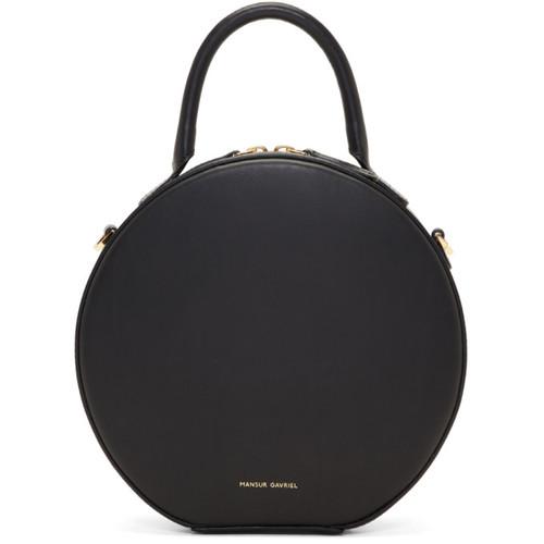 Black Mini Circle Crossbody Bag