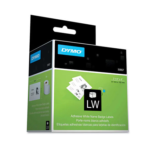 DYMO Self-Adhesive Name Badge Labels 2-1/4 x 4 White 250/Box