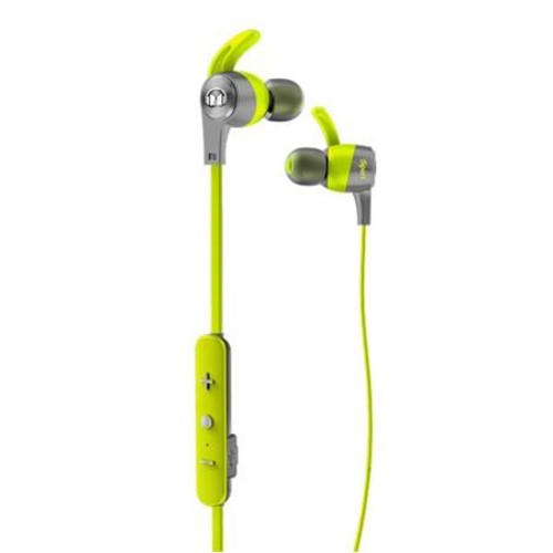 Monster Cable iSport Achieve In-Ear Bluetooth Wireless Headphones, Mic, Green