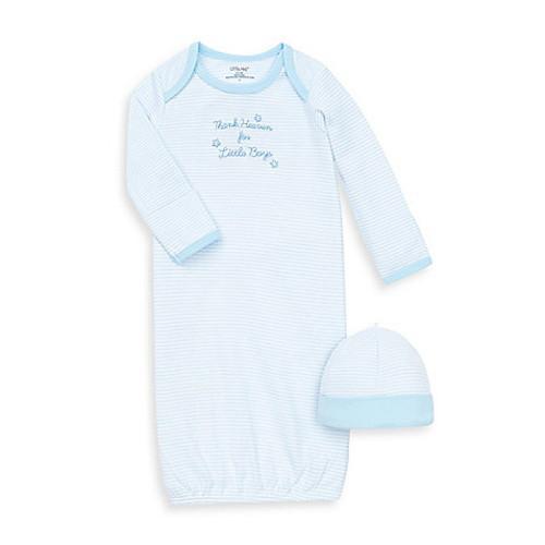 Little Me Thank Heavens Skylight Blue/White Gown