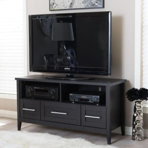 Baxton Studio Espresso Entertainment Center
