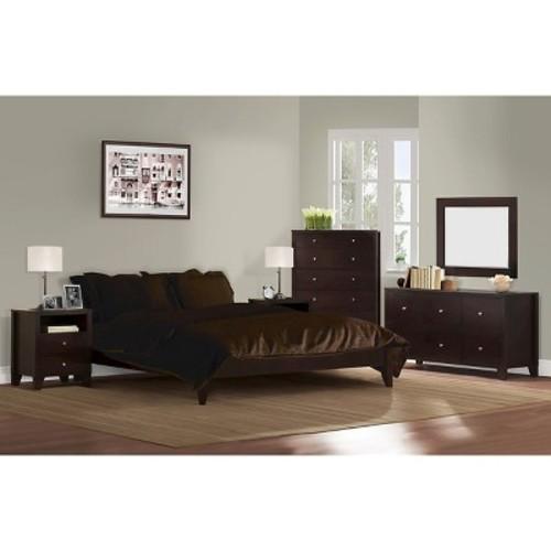 Dayton 6 Piece Bedroom Set Coffee Queen - Lifestyle Solutions