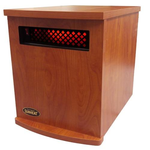 SUNHEAT Original USA1500 5-Year Warranty Infrared Heater, Cherry