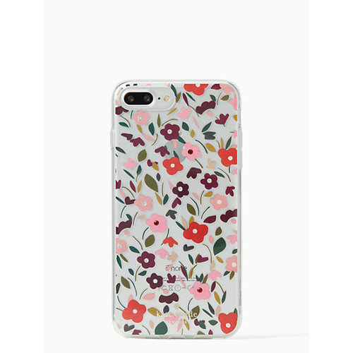 jeweled boho floral clear iphone 7/8 plus case
