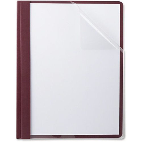 TOPS Oxford Linen Finish Clear Front Report Covers - Letter - 8 1/2