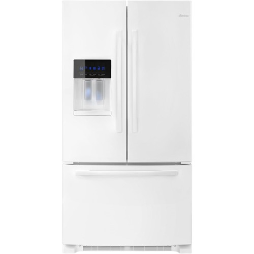 Amana 25 cu ft Wide 36-inch French Door Bottom Freezer Refrigerator with Fast Cool Option - White