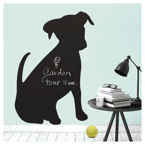Puppy Chalkboard Peel & Stick Wall Decal Black 1 Sheet - Wallies