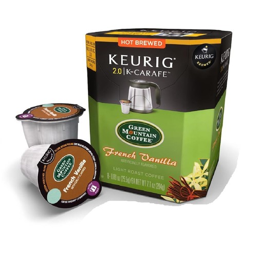 Keurig K-Carafe Packs, Green Mountain Coffee French Vanilla, 8-Count