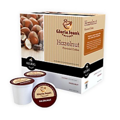 Gloria Jean's Pods Coffees Hazelnut Coffee K-Cup Pods, Box Of 18