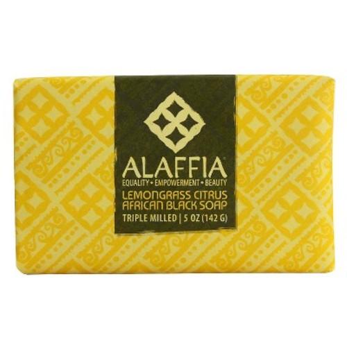 Alaffia Triple Milled Soap Lemongrass Citrus African Black 5 oz