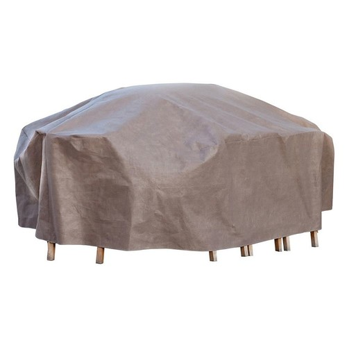Duck Covers Elite 127 in. L Rectangle/Oval Patio Table and Chair Set Cover with Inflatable Airbag to Prevent Pooling