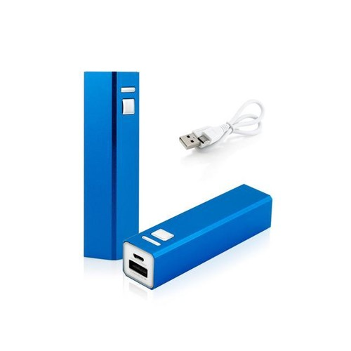 GEARONIC TM 2600mAh Portable Mobile USB Power Bank External Battery Charger for Cell Phone backup - Blue