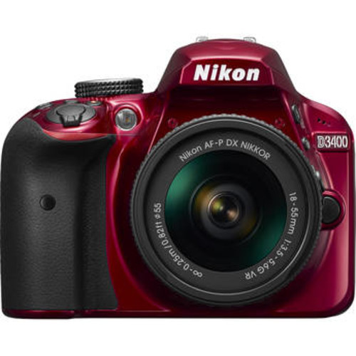 D3400 DSLR Camera with 18-55mm Lens (Red)