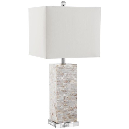 Safavieh Homer 25.5 in. Shell Table Lamp with White Shade
