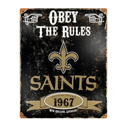 Orleans Saints Embossed Metal Sign