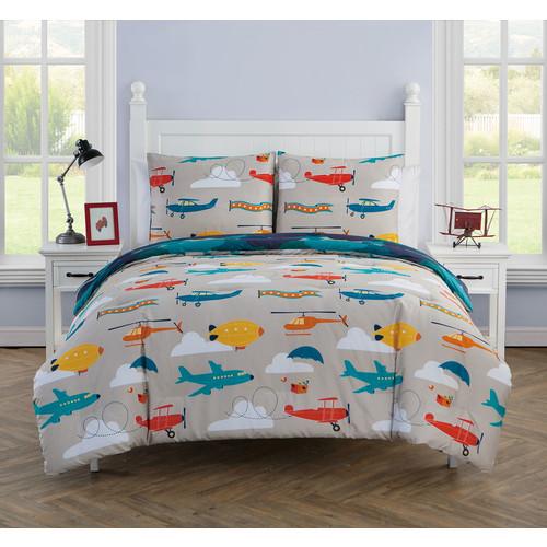 Victoria Classics Glider 3-piece Reversible Comforter Set