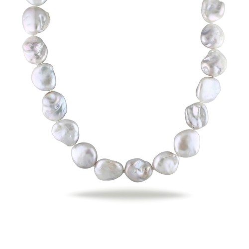 Freshwater Baroque Cultured Pearl Strand with Sterling Silver Clasp