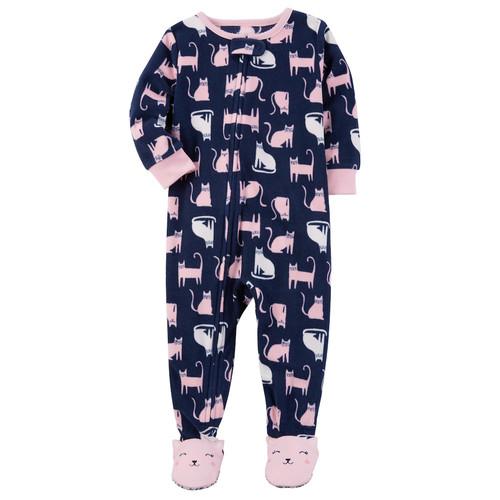 Baby Girl Carter's Cats Fleece Sleep & Play