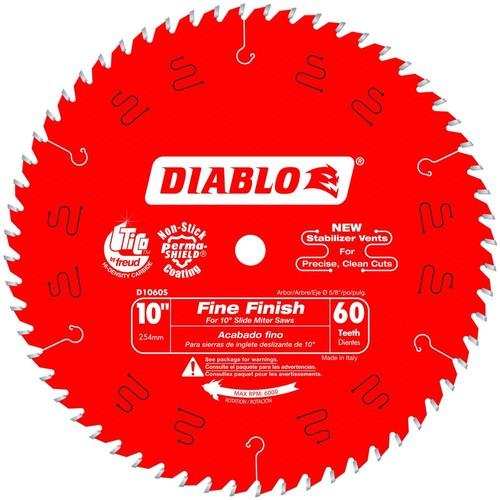 Diablo 10 in. x 60-Teeth Fine Finish Slide Miter Saw Blade (25-Pack)
