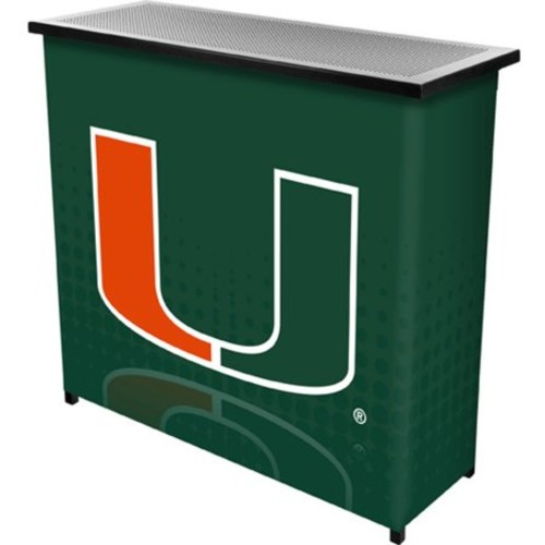 University of Miami Portable Bar with Carrying Case, Reflection