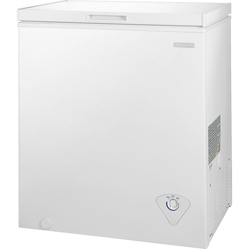 Insignia - 5.0 Cu. Ft. Chest Freezer - White