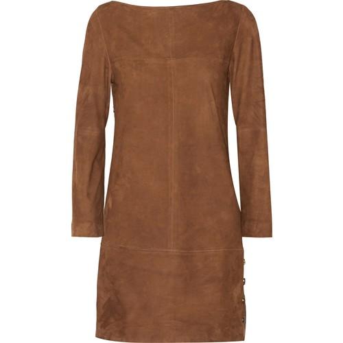 Blunt suede mini dress