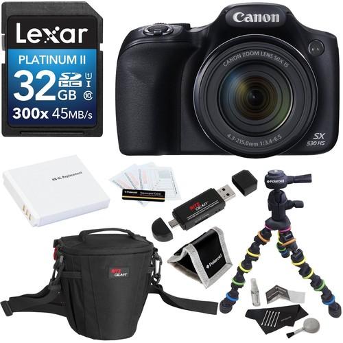 Canon PowerShot SX530 HS 16MP 50X Zoom Digital Camera Kit
