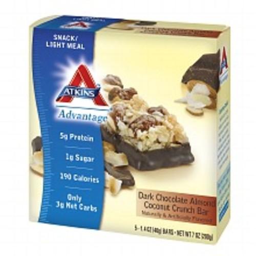 Atkins Advantage Snack Bars Dark Chocolate Almond Coconut Crunch