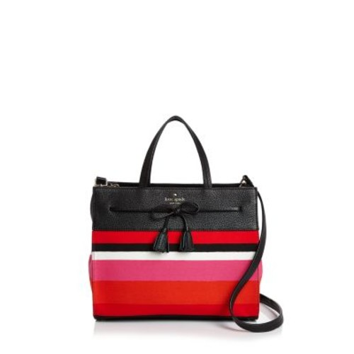 KATE SPADE NEW YORK Hayes Street Isobel Striped Satchel