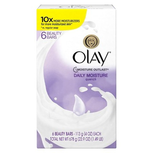 Olay Quench Daily Moisture 6-Bar Soap - 24oz