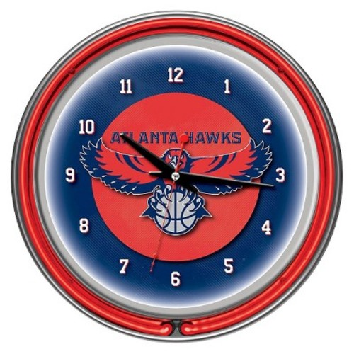 Atlanta Hawks Team Logo Wall Clock