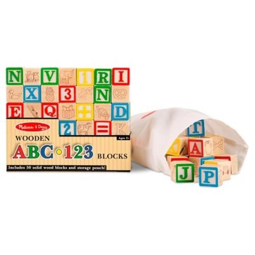 Melissa & Doug Wooden ABC - 123 Blocks