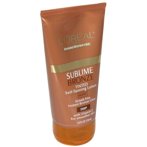 L'Oreal Tinted Self-Tanning Lotion, Body, Deep 5 fl oz (150 ml)