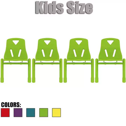 2xhome - Set of Four (4) - Kids Size Plastic Side Chair 12