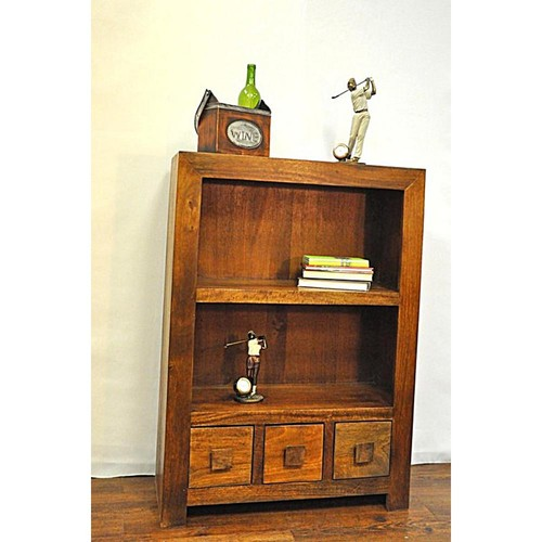 Y Decor Revere Brown Storage Open Bookcase