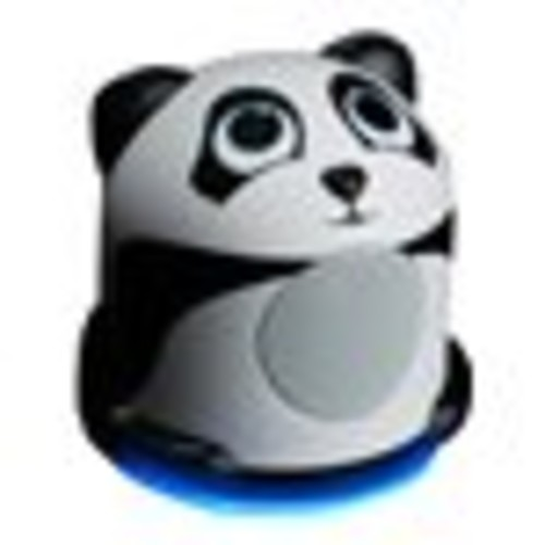 Mini Cute Animal Battery Powered Portable Speaker with LED Night Light (Panda Pal Jr) Speaker for Kids by GOgroove - Passive Subwoofer, Built-in 3.5mm AUX Cable - Plug Into Tablets, Phones, & more
