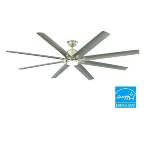 Home Decorators Collection Kensgrove 72 in. LED Indoor/Outdoor Brushed Nickel Ceiling Fan with Light Kit and Remote Control