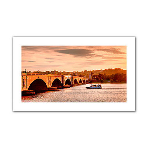 Brushstone River Cruise at Sunset Canvas Poster Wall Art